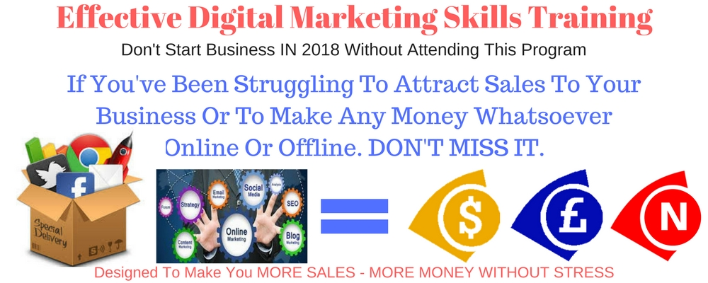 Click on slide to visit page - Effective Digital Marketing Skills Training