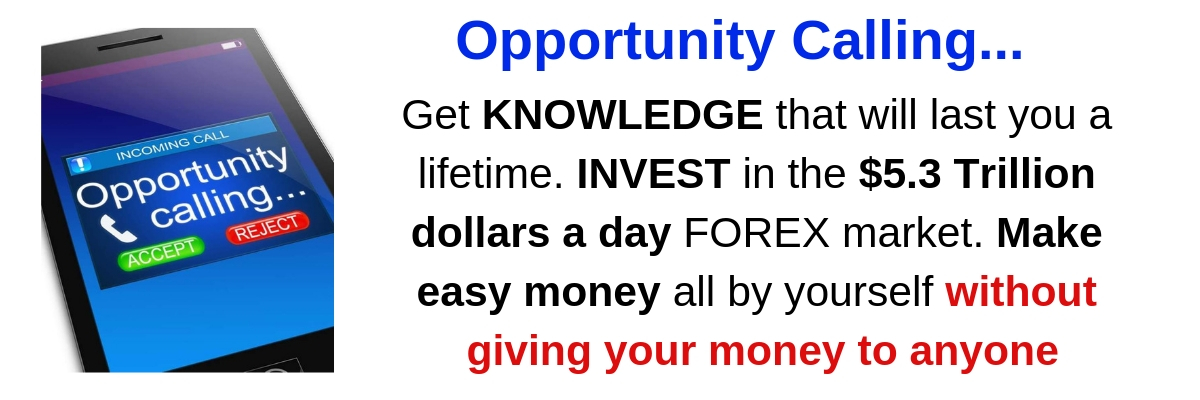 Get KNOWLEDGE and INVEST in FOREX without giving your money to anyone